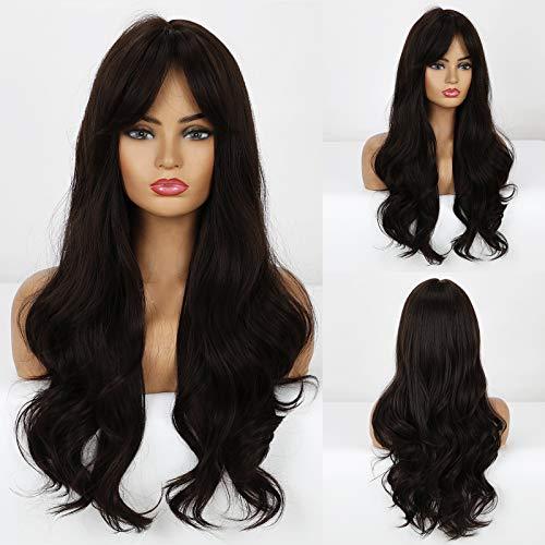 obtener pelucas largas marrones on-line