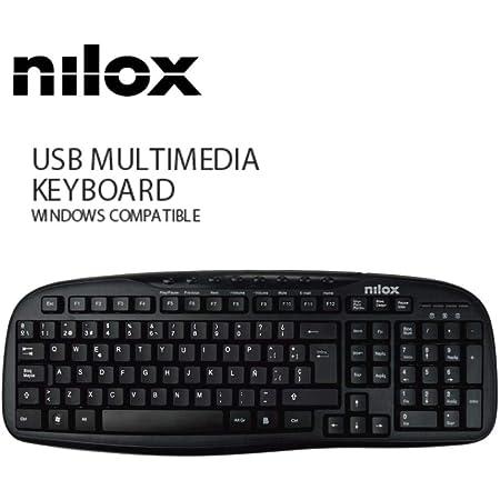 Teclado Multimedia Nilox USB - Negro ESP QWERTY