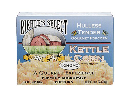 Riehle's Select Popcorn Hulless Kettle Microwave Popcorn - 12 Boxes (36 Packs)