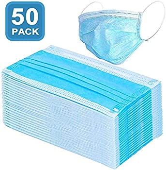 50-Pack Fontar Anti-Dust Disposable 3 Layers Dustproof Face Mask