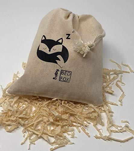 Niedliches Zirbenkissen, naturbelassene Baumwolle, gefülltes Säckchen mit Bio Zirbe, hervorragend als Geschenk für Baby geeignet, Zirbensäckchen sorgt für tollen ruhigen Schlaf