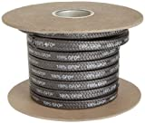 Palmetto 1389 Series 100% GFO Expanded PTFE with Graphite Compression Packing Seal, Dull B...