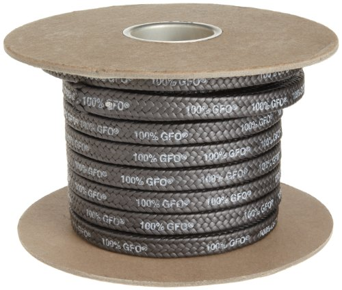 Palmetto 1389 Series 100% GFO Expanded PTFE with Graphite Compression Packing Seal, Dull Black, 3/16