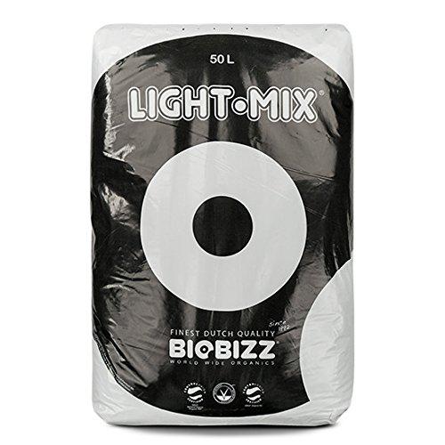 BioBizz Light-Mix Sac Terreau Mélange d'Empotage Léger, Transparent, 50 L