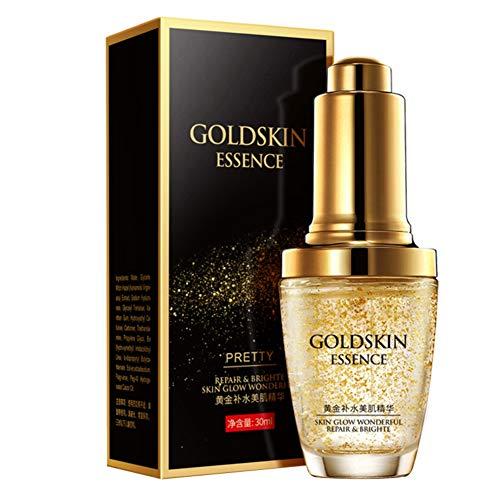 ARTIFUN Aceite Esencial de oro de 24 k Líquido Hidratante Profundo Apriete la piel Suero Facial Antiarrugas para Blanquear 30 ml