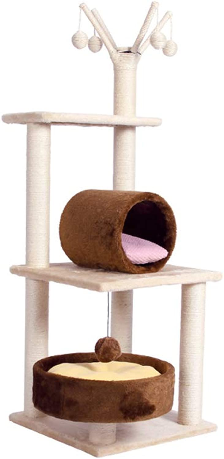 Cat tree Activity Center Sisal Wood Cat Toy Jumping Cat House Rattan