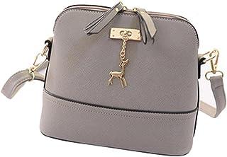 "Start Women's Single Shoulder Bags Zipper Sling Bag Large (29 17 48/11.4 6.7 18.9"") Gray"