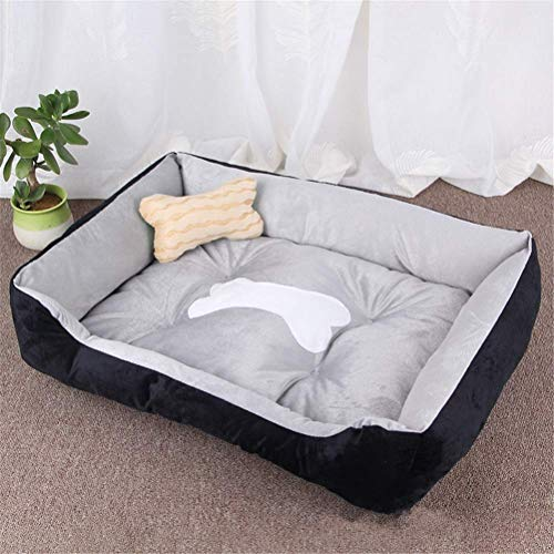 GANE Pets Bed Dogs Cats Bone Warm Products for Small Medium Large Soft for Washable House for Puppy Cotton Kennel Mat,45X30X15Cm,45X30X15Cm