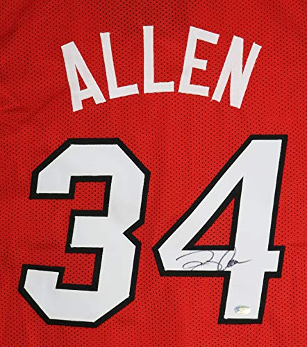 Ray Allen Miami Heat Signed Autographed Red #34 Custom Jersey
