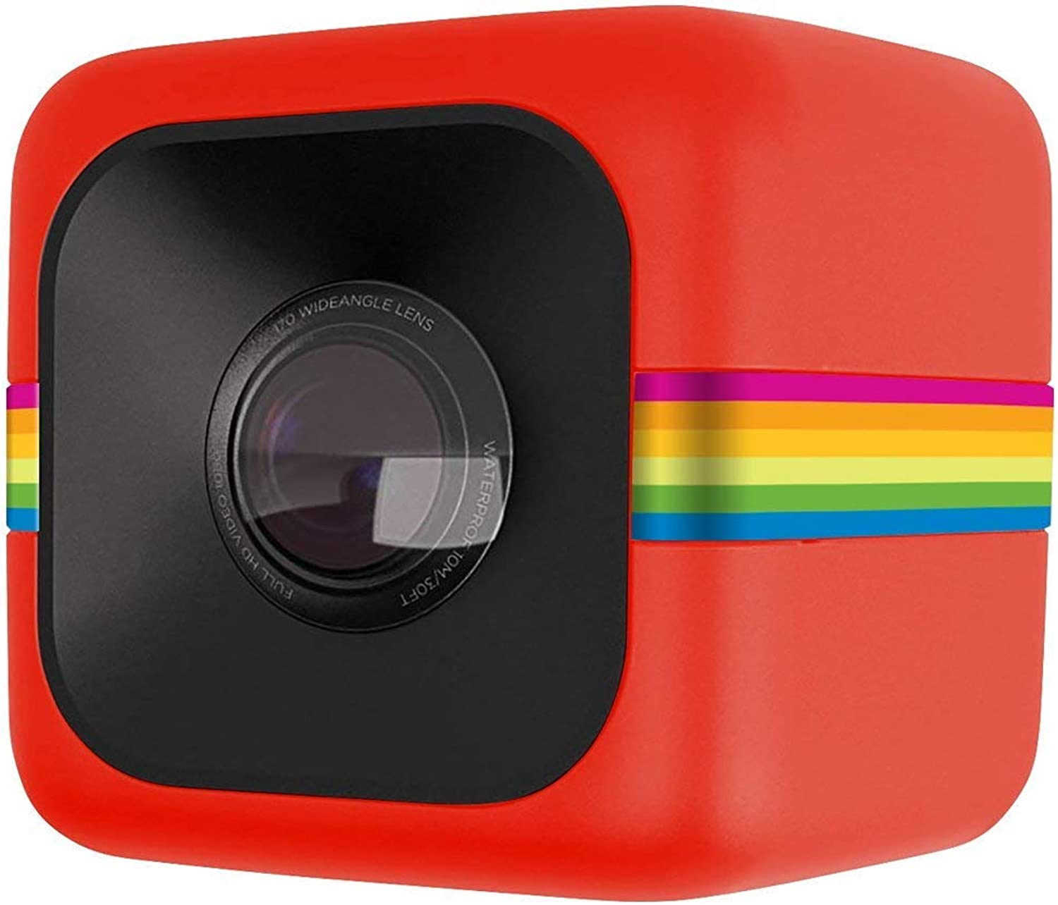 Polaroid Cube Act II HD 1080P Mountable WeatherResistant Lifestyle Action Video Camera (Red) 6MP Still Camera w Image Stabilization, Sound Recording, Low Light Capability & Other Updated Feature