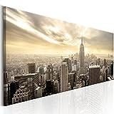 murando Cuadro en Lienzo 120x40 cm - New York Cityy 1 Parte impresión en Material Tejido no Tejido Cuadro de Pared impresión artística fotografía Imagen gráfica decoración Ciudad d-B-0081-b-b