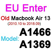 for for for MacBookPro用シリコンキーボードカバー1315 16 17 Retina Touch Air 13 1211透明クリアTPUEU US A2179 A22892020フィルム -EU Old Air 13