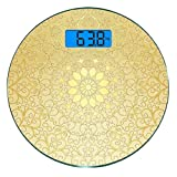 Escala digital de peso corporal de precisión Ronda Mandala Báscula de baño de...