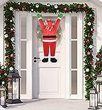 Als Ellan 42 Inch Climbing Hanging Santa Claus for Christmas Decoration Christmas Outdoor...