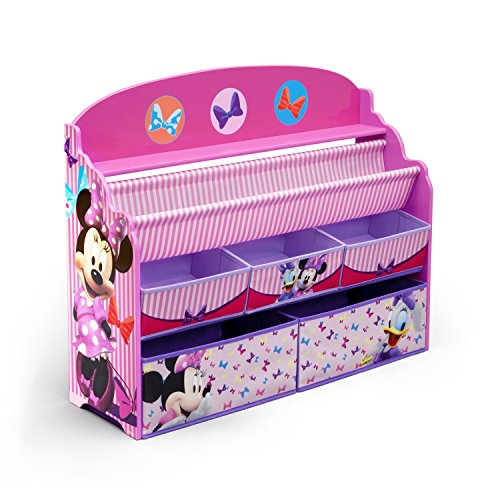Delta Children Deluxe Book & Toy Organizer, Disney Minnie Mouse