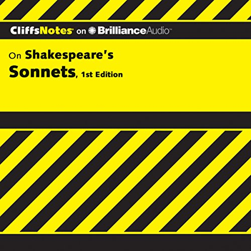 CliffsNotes: Shakespeare's Sonnets, 1st Edition cover art