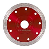 Diamond Saw Blade Cutting Disc 115mm/4.5in Super Thin Turbo Disk for Angle Grinder Cutting Porcelain Tiles...