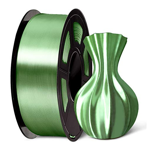 PLA Shiny Silk 3D Printer Filament 1.75mm, SUNLU 3D Printing Consumables Support FDM, Dimensional Accuracy +/- 0.02 mm 2.2LBS (1 Kg) Spool No-Tangle (Shiny Silk Bronze, PLA+)