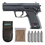 Umarex U58100. Pistola perdigon H&K USP Gas Co2. 4,5mm. + Funda Portabombonas + Balines + Bombonas co2. 23054/29318/38123