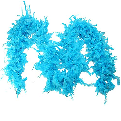 Sayla Schals Tücher Damen Winter Elegant Feder Boa einfarbig Federdichten wählbar Länge Federstola Federschal Kostüm Karneval Burlesque für Fasching kuschelig farbig