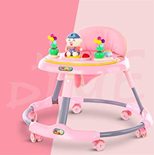 Adjustable Baby Walkers for Baby with Easy Clean Tray 2 in 1 Walk & Rock Baby Walker Rocker and Entertainer