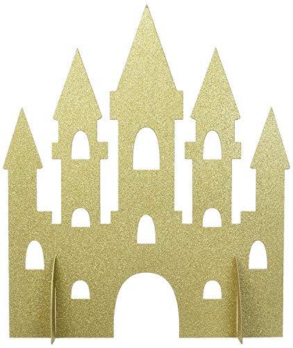 Unique Party - Decoración de Mesa de Castillo de Princesa de Brillo Dorado - 35 cm (58378)