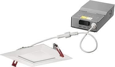 Lithonia Lighting WF6 SQ S 27K30K35K 90CRI MW M6 LED Color Temperature Selectable Ultra Thin Recessed Downlight, 2700K | 3000K | 3500K, 6-Inch, White