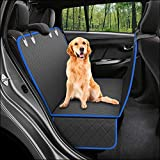 Dog Back Seat Cover Protector Waterproof Scratchproof Nonslip Hammock for Dogs Backseat Protection Against Dirt and Pet Fur Durable Pets Seat Covers for Cars & SUVs (Standard, Blue)