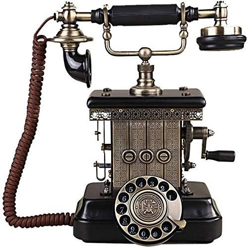 LXLH Teléfono Fijo Retro, teléfono de marcación giratoria Retro nórdica Teléfono Fijo Fijo de Escritorio de Oficina en casa clásico