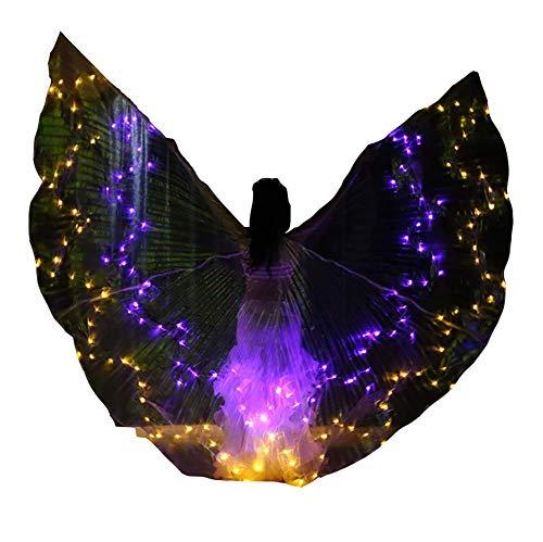 Jolie Alas de Danza del Vientre Adultos Alas LED ISIS Mariposa Trajes de Bailarina Oriental Accesorio de Rendimiento,D