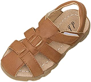 5e57f44f5f2aa8 YIBLBOX Boy s Girl s Closed Toe Outdoor Sport Casual Sandals Beach Flat  Shoes(Toddler Little