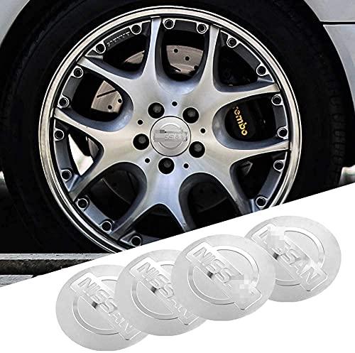 El Centro de Rueda de Coche Cubierta de la Etiqueta engomada Casquillos de Eje tapacubos Emblema de la Insignia Covers Adhesivos para Nissan Qashqai Juke X-Trail,56mm