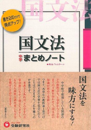 中学国文法まとめノートの詳細を見る