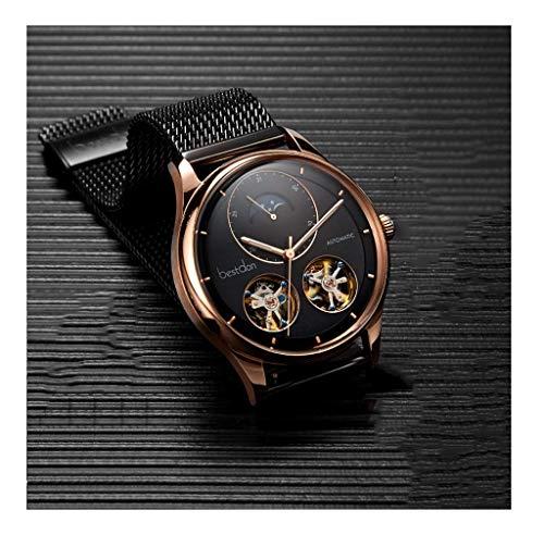 JYTFZD YANGHAO-Reloj de Pulsera- Relojes mecánicos Hombres Negro Ultra-Delgado Simple y Elegante de Lujo de Lujo, Reloj, Reloj de Cuarzo. OUZDNSSB-5