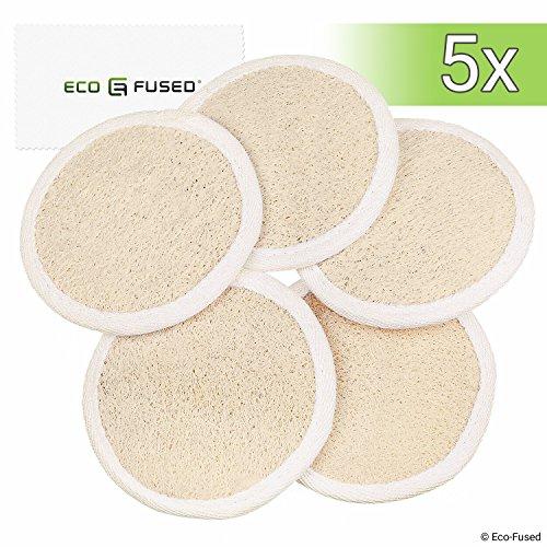Pad Loofah (Confezione da 5) – Spugne per Scrub Esfoliante – Materiale in Luffa Naturale -Prodotto Essenziale per la Cura Della pelle - per Doccia/Bag