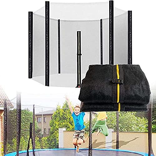 GLEYDY Red De Seguridad Recambio De Trampolín, Red De Protección Ø 244 305 366 427 cm, con Cremallera Resistente a Los Rayos UV Fácil Montaje para Cama Elástica De Jardín 6/8 Postes,12FT/Ø366cm