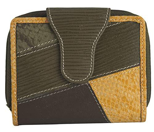 Sunsa Geldbörse für Damen Kleiner Leder Geldbeutel Portemonnaie mit RFID Schutz Brieftasche mit viele Kreditkarten Fächer Geldtasche Wallet Purses for Women das Beste Gift kleine Geschenk 81702