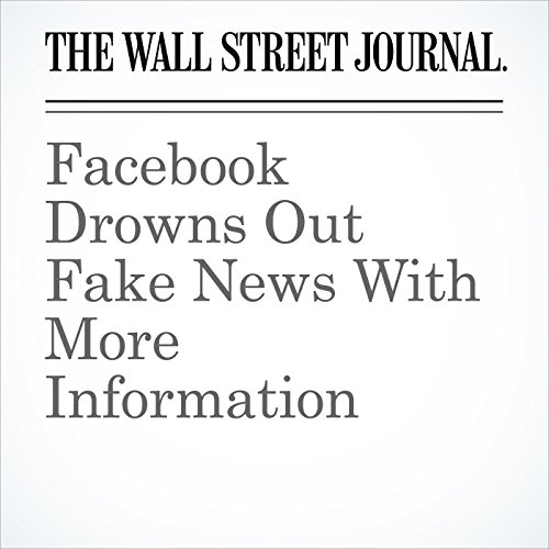 Facebook Drowns Out Fake News With More Information copertina