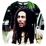 Funny Hoodies Interesting Hot Sudadera 3D Ropa Camiseta Bob Marley M