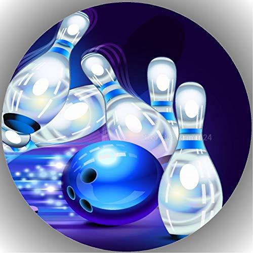 Premium Esspapier Tortenaufleger Bowling T14