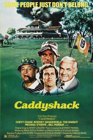 Caddy Shack Comedy Golf Poster 24 X 36