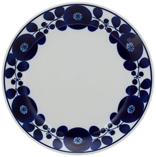白山陶器 プレート 青 ブルーム リース M 約19.5cm 波佐見焼 日本製