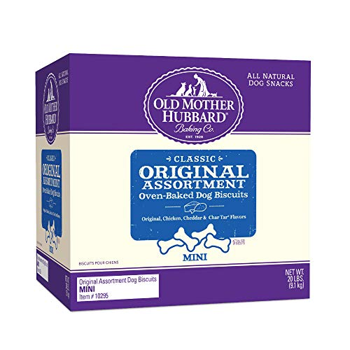 Old Mother Hubbard Classic Original Assortment Biscuits Baked Dog Treats, Mini, 20 Pound Box