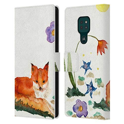 Head Case Designs Offiziell Zugelassen Wyanne Kleiner Fuchs Im Garten Tiere Leder Brieftaschen Handyhülle Hülle Huelle kompatibel mit Motorola Moto G9 Play