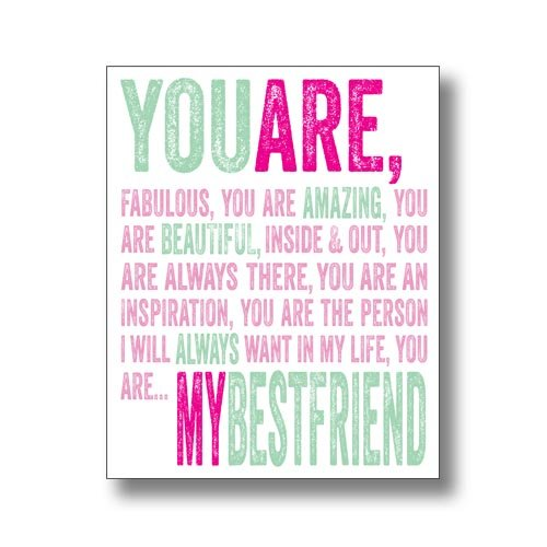 Greetings Card (BB0305) Blank/Birthday - My Best Friend - From The