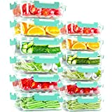 Glass Food Storage Containers [24 Piece], Airtight Glass lunch Bento Box Containers with Lids, Great...
