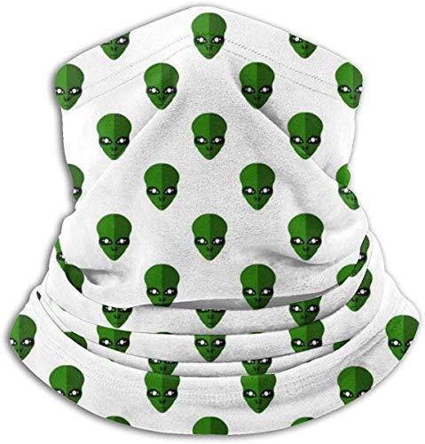 NE Fleece Nackenwärmer Gamasche Alien Race Gesicht Weiche Mikrofaser Kopfbedeckung Gesicht Schal Maske Für Winter Kaltes Wetter & Warmhalten Für Herren Damen