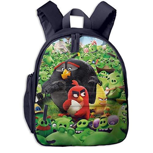 JKSA The Angry Cute Birds Movie Mochila para niños Mochilas Escolares para niños y niñas, Azul Marino, Talla única