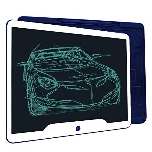 Richgv LCD Writing Tablet, 15 Pollici Elettronico Tavoletta Grafica Scrittura Digitale Ewriter, Portatile Tavoletta da Disegno con Penna per bambini,Progettista,Studenti,Famiglia,Ufficio(Blu)…