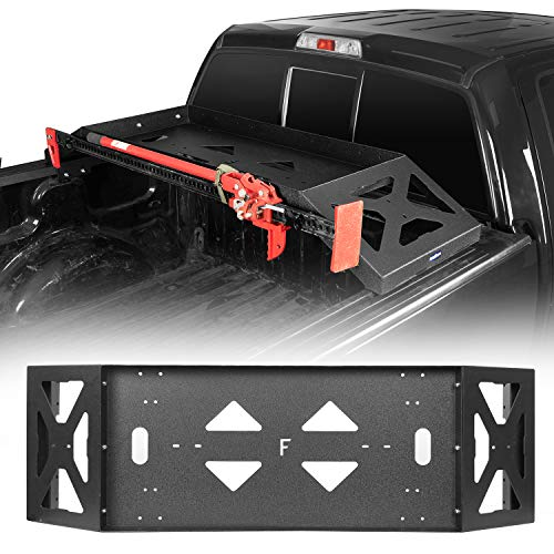 Hooke Road F150 Bed Rack Cargo Carrier Basket with Lifting Jack Mount Compatible with Ford F-150...